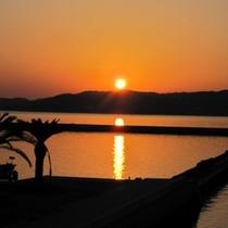 カップルの為の美しい夕陽