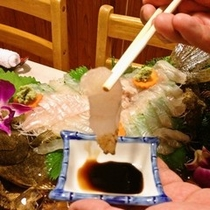 【和食コース】新鮮なお刺身のお造り!おいしそ〜♪
