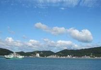 前島から見る本土の景色