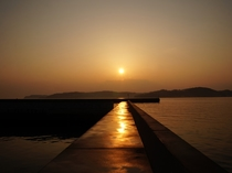 アラパパ前の桟橋で見る夕日