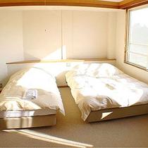 *客室一例/ベッドでぐっすりとご就寝頂けます。