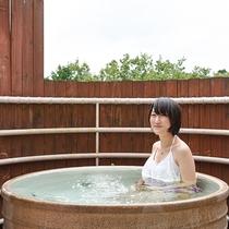 【露天風呂】全室完備!水着を着て入れるので、友人同士でも楽しめます!