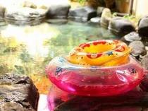 【こども用】露天風呂に用意させてもらった浮き輪