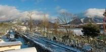 初雪の、ひるぜん高原三木ヶ原