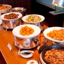 【朝食】麻婆豆腐・長いもと帆立のコロッケ