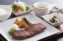 牛ロース肉のステーキセット