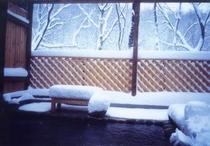 雪の貸切露天風呂