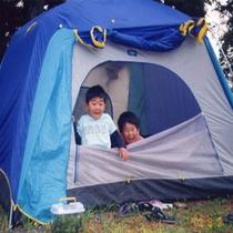 *テントで宿泊…♪