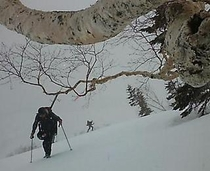 白馬乗鞍岳 バックカントリースキー