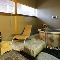 露天風呂付き客室露天風呂一例