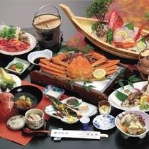 大名料理例(舟盛かにor舟盛ステーキ付)