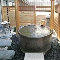 おとぎ亭客室総檜東屋風庭園露天風呂