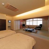 露天風呂付和洋室一例