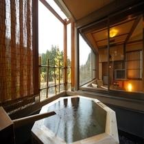 桜館 和室  露天風呂
