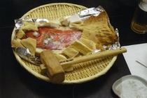 金目鯛の塩釜焼き