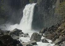 春の苗名滝