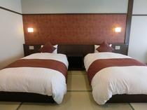 ◆リニューアル【和洋室】美風館・12畳ツインベット※シモンズベット使用/幅110cm