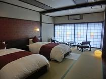 ◆リニューアル【和洋室】美風館・12畳ツインベット(洗面・シャワートイレ付)