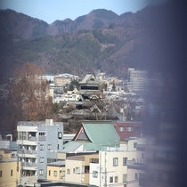◆客室からの松本城 客室から国宝松本城が望めます(一部客室)