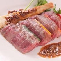 【福島牛ステーキ】一力秘伝ソースにてご用意します