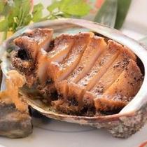 【天然アワビのステーキ】