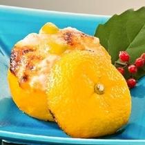 一力名物「柚子釜焼き」