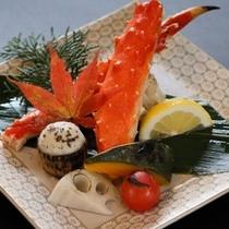 【冬の前菜】北海焼きタラバガニ 焼き野菜