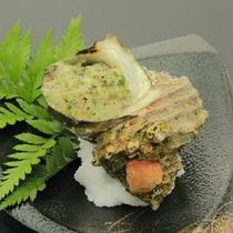 【春の焼物】サザエブルギニヨンバター焼(春のメイン二品目)