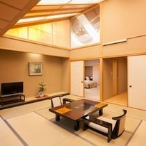 【特別和洋室】最上階ジェットバス付きの和洋室