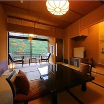 【お部屋:Cタイプ】 *化粧室の付いたゆったり寛げる和室。檜風呂の内湯着き客室です。