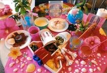[お子様ディナー夕食]内容+スペースシャトルのプレート他+テーブル以外のディスプレイは全てイメージ