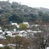 冬の温泉街