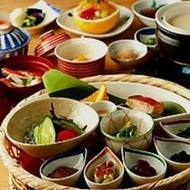 彩り豊かな朝食(一例)
