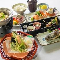 【お食事少なめ~春のお料理一例~】白山の恵みを使用した、お手軽お料理です♪