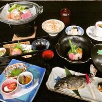 【お食事少なめ~お料理一例~】白山の恵みを使用した、お手軽お料理です♪