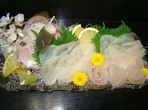 カワハギお刺身 一例