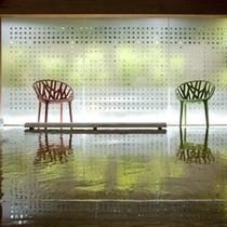 貸切専用露天風呂『風庵』はモダンで普通の露天風呂とはまた違った雰囲気です。