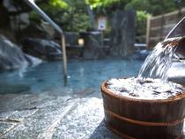 当宿の温泉はやわらかく泉質が大変よいと評判です。身体に効く温泉を掛け流しでご堪能下さい。