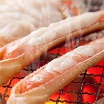 食欲をそそる香り…焼き蟹
