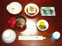 朝食・梅・竹・桜プラン・春季〜秋季のセットです。