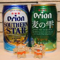 「まずはビールでぐいっと一息・・・♪」地元オリオンビールで乾杯!