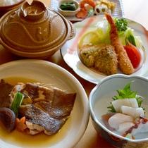 ナメタカレイ煮とモヨロ鍋(一例)