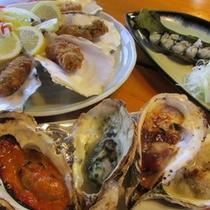 牡蠣料理と海鮮メニュープラン