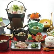 *夕食一例(グリーン期)/食材を活かしたお料理に舌鼓。