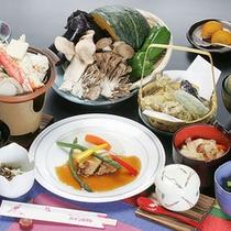 *夕食一例(グリーン期)/その時期ならではの食材を活かしたお料理