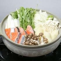 *夕食一例(冬)/花が入鍋