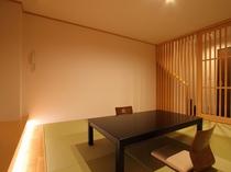 露天風呂付きメゾネット和洋室ツイン(202室)