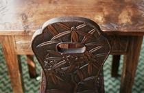 軽井沢彫 椅子