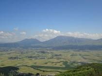 大観峰からの阿蘇谷の景色