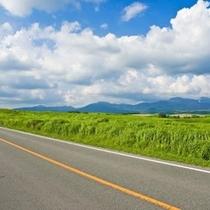 【阿蘇の観光】やまなみハイウェイから見た風景